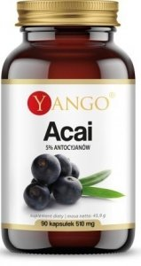Yango Acai 90 kapsułek 5 % antycyjanów
