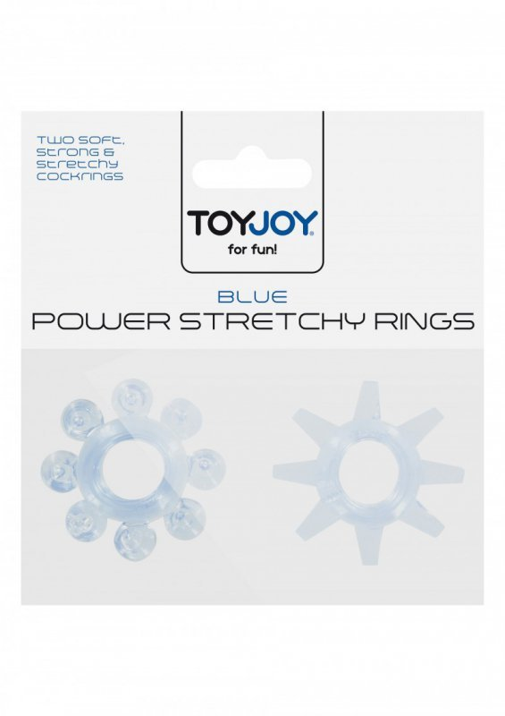 Pierścień-POWER STRETCHY RINGS BLUE 2PCS