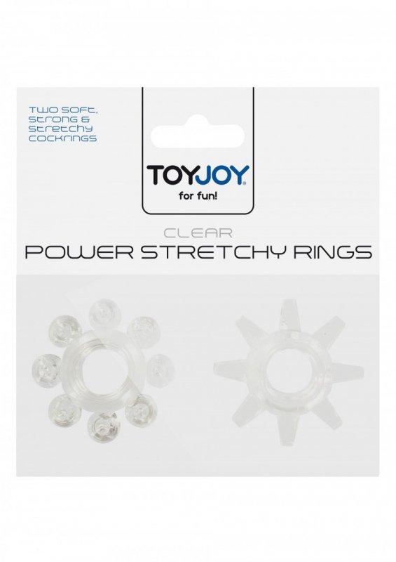 Pierścień-POWER STRETCHY RINGS CLEAR 2PCS