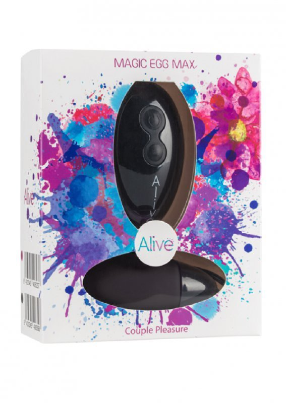 Jajko/wibr-Wibrator - Magic Egg Max Remote control. Func:10.Black. AAA