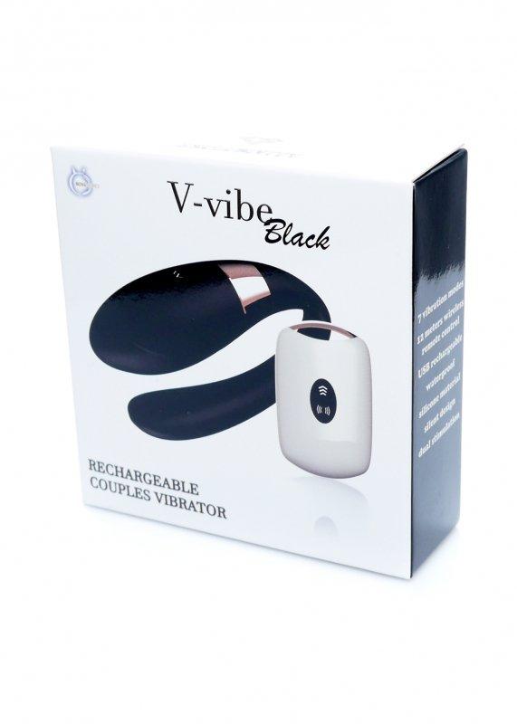 Stymulator-V-Vibe Black USB 7 Function / Remote Control