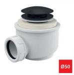 Syfon brodzikowy click/clack czarny mat A465BLACK Ø50