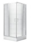 Kabina prysznicowa kwadratowa Modern 165 niska 80x80 cm transparentna