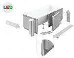 Zabudowa obudowa styropianowa do wanien prostokątnych LED