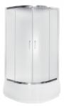 Kabina prysznicowa półokrągła Modern 165 niska 90x90 cm grafitowa