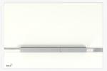 Szklany przycisk STRIPE-GL1200 biały