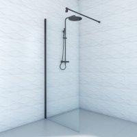 Ścianka prysznicowa DUSO 100 Czarna