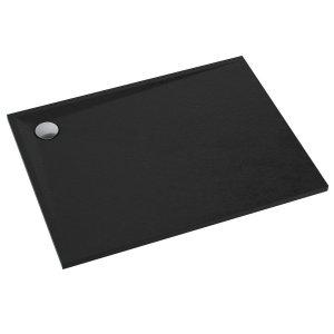 Brodzik prostokątny kompozytowy  Schedline LIBRA Black Stone 90x80