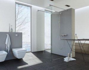 Ścianka prysznicowa Easy In 140 cm, szkło transparentne