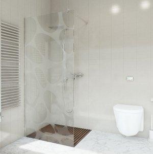 Ścianka prysznicowa narożna Easy In 100 szkło stellar 2-stonna