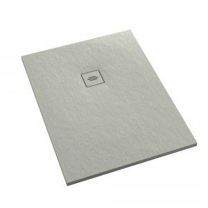 Brodzik prostokątny kompozytowy Schedline PROTOS Cement Stone 90x80
