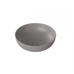 Umywalka ceramiczna nablatowa MOLIS MATT GREY 38 cm