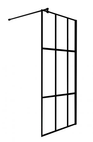 Ścianka prysznicowa 100x200 cm Nero Loft czarny mat