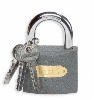 Kłódka żeliwna 3 klucze w komplecie TBA 313K