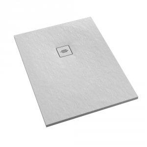 Brodzik prostokątny kompozytowy  Schedline PROTOS White Stone 120x80