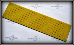 Płytka typu Turret Board blank 258x67x2mm ŻÓŁTA