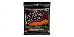 Struny GHS Bright Bronze 80-20 Extra Light 011-050 (akustyk)