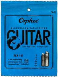 Struny ORPHEE RX15 9-42 set elektryk