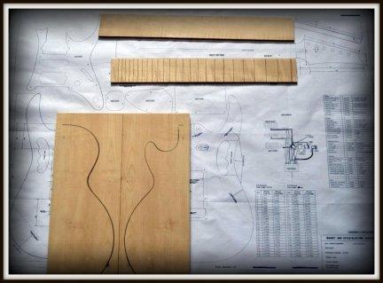 Plan budowy gitary IBANEZ JEM