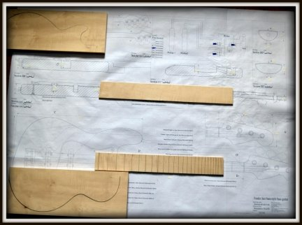 Plan budowy gitary FENDER JAZZ BASS
