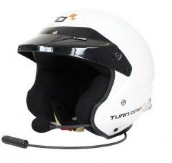 Kask Turn One Jet-RS (FIA) interkom Peltor