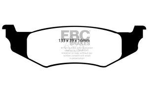 Klocki hamulcowe EBC Greenstuff tył CHRYSLER (USA) Neon 2.0 (5 Stud) 96-99