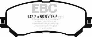 Klocki hamulcowe EBC Greenstuff przód RENAULT Megane Saloon (Mk4) 1.6 TD (Elec H/B) 2016-