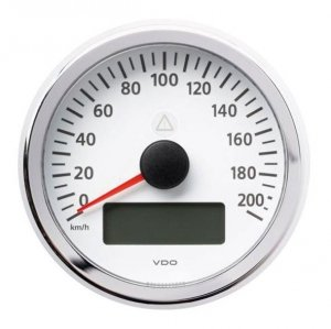 Prędkościomierz VDO Viewline (0-220) white