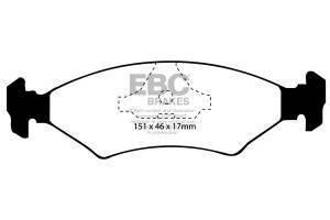 Klocki hamulcowe EBC Bluestuff przód FORD Fiesta (Mk3) 1.1 Classic (ABS) 95-97