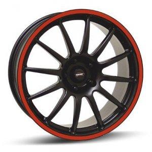 Felga Team Dynamics PRO RACE 1.2S 7x15 czarny z czerwonym