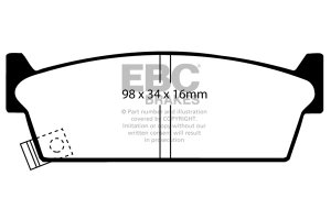 Klocki hamulcowe EBC Greenstuff tył NISSAN 200SX 1.8 Turbo (S13) 88-91