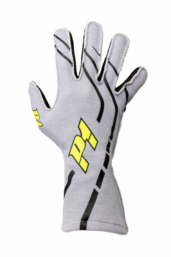Rękawice P1 Advanced Racewear GRIP2 srebrne (FIA)