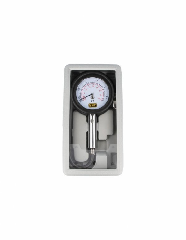 Profesjonalny manometr ciśnieniomierz analogowy QSP 0-2.5 Bar