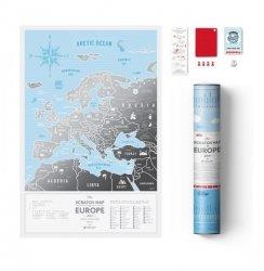 MAPA ZDRAPKA EUROPA TRAVEL MAP SILVER EUROPE