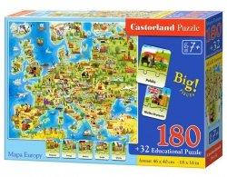 PUZZLE 180 MAPA EUROPY