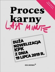 LAST MINUTE PROCES KARNY 07. 2019