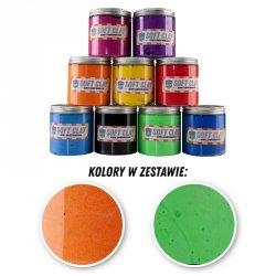 GLINKA ZESTAW 3 - 2 KOLORY PO 100G (ZIELONY FLUO/POMARAŃCZOWY)