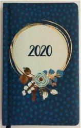 KALENDARZ 2020 FLOWER POWER A6 KWIATY NIEBIESKIE TNS 35954