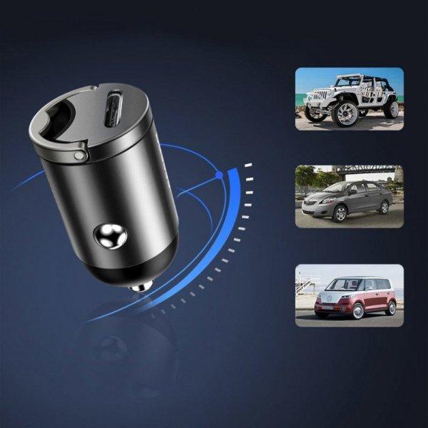 Baseus Tiny Star PPS mini inteligentna ładowarka samochodowa USB Typ C 30W Quick Charge 3.0 PD 3.0 różowy (VCHX-B04)