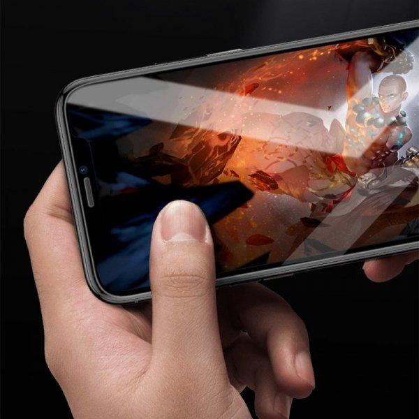Baseus szkło hartowane 0.3mm 9H iPhone 11 Pro Max / iPhone XS Max + pozycjoner (SGAPIPH65-LS02)