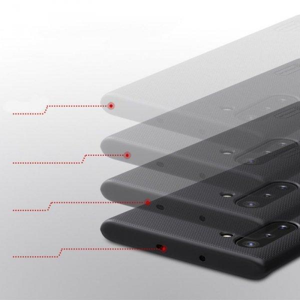 Nillkin Super Frosted Shield wzmocnione etui pokrowiec + podstawka Samsung Galaxy Note 10 czarny