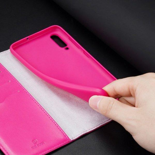 Dux Ducis Kado kabura etui portfel pokrowiec z klapką Samsung Galaxy A70 różowy