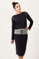 Bluza Damska Model Milena 1 Navy/Light Grey