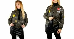 Kurtka Bomber Jacket z Naszywkami