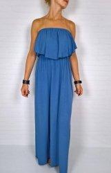 Włoska Maxi Sukienka Blue