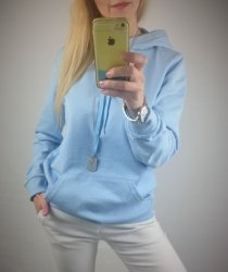 Bluza Dresowa Kaptur Baby Blue