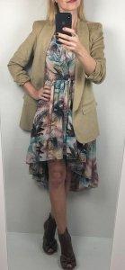 Asymetryczna Szyfonowa Kobieca Sukienka