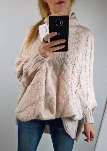 Sweter Ponczo Brudny Róż By o la la