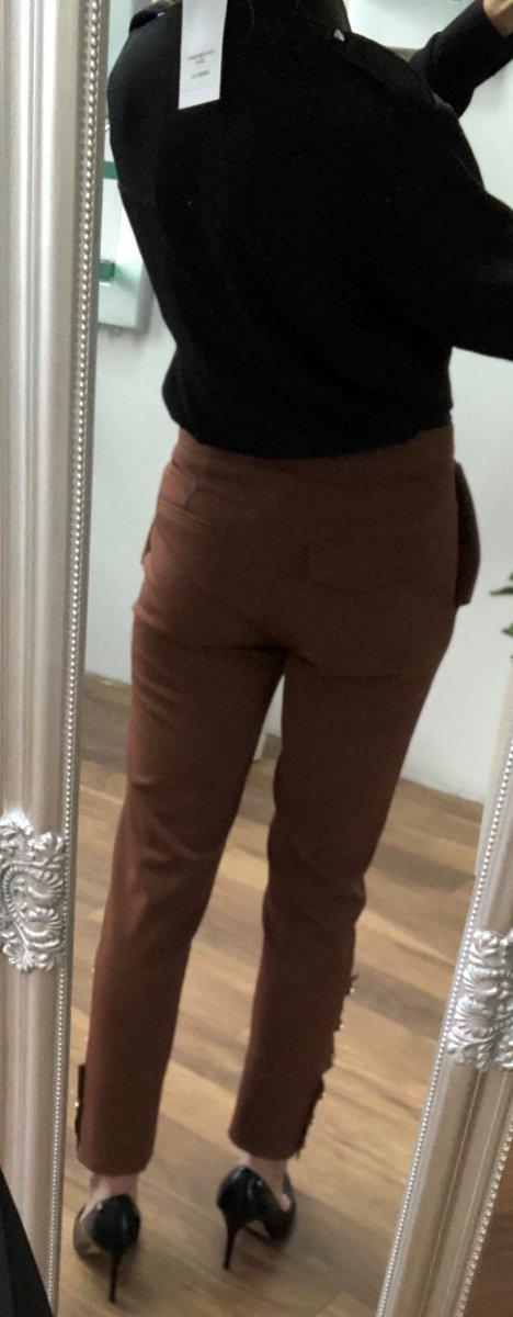 Spodnie Cygaretki By o la la Brąz