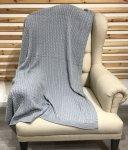 Koc Bawełniany Scotty Szary Gładki 125x150 cm - Matex. Szary Koc